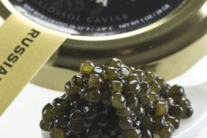 Malossol farm-raised Osetra caviar (step by step)